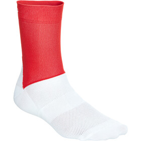 POC Essential Road Socks Men prismane red/hydrogen white